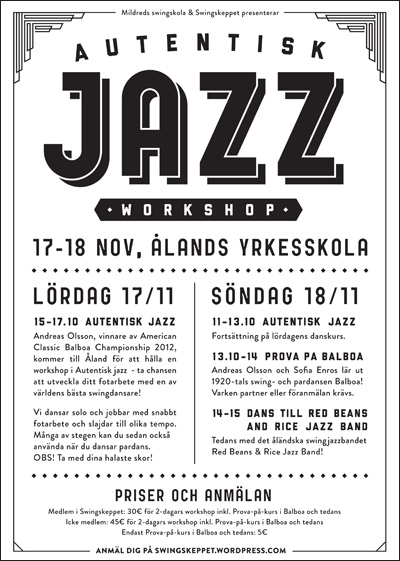 Mildreds swingskola Autentisk jazz workshop Andreas Olsson