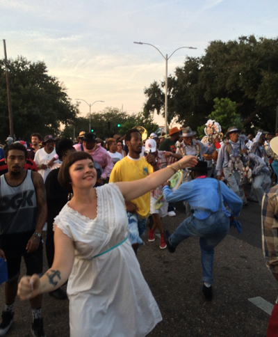Sofia Enros Second Line New Orleans 2014
